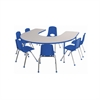 ECR4Kids Horseshoe Table Grey/Blue-Standard Ball
