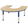ECR4Kids Horseshoe Table Maple/Blue -Chunky