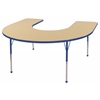 ECR4Kids Horseshoe Table Maple/Blue -Toddler Ball