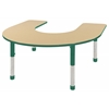 ECR4Kids Horseshoe Table Maple/Green-Chunky
