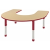 ECR4Kids Horseshoe Table Maple/Red -Chunky