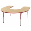 ECR4Kids Horseshoe Table Maple/Red -Toddler Ball