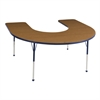 ECR4Kids Horseshoe Table Oak/Navy-Toddler Ball