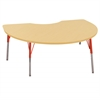 "ECR4Kids 48""x72"" Kidney Maple/Maple/Red Standard SG"