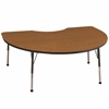 "48""x72"" Kidney T-Mold Activity Table, Oak/Black/Standard Ball"