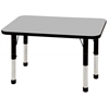 "24""x36"" Rectangular T-Mold Activity Table, Grey/Black/Chunky"