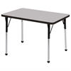 "24""x36"" Rectangular T-Mold Activity Table, Grey/Black/Standard Ball"