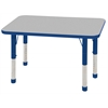 "24""x36"" Rectangular T-Mold Activity Table, Grey/Blue/Chunky"