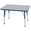 "24""x36"" Rectangular T-Mold Activity Table, Grey/Blue/Toddler Ball"
