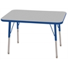"ECR4Kids 24x36"" Rect Table Grey/Blue-Toddler Swivel"