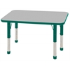 "24""x36"" Rectangular T-Mold Activity Table, Grey/Green/Chunky"