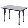 "24""x36"" Rectangular T-Mold Activity Table, Grey/Navy/Chunky"