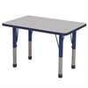 "ECR4Kids 24x36"" Rect Table Grey/Navy-Chunky"