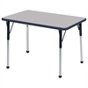 "ECR4Kids 24x36"" Rect Table Grey/Navy-Standard Ball"