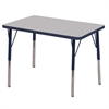 "ECR4Kids 24x36"" Rect Table Grey/Navy-Standard Swivel"