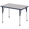 "24""x36"" Rectangular T-Mold Activity Table, Grey/Navy/Toddler Ball"