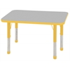 "ECR4Kids 24x36"" Rect Table Grey/Yellow-Chunky"