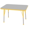 "24""x36"" Rectangular T-Mold Activity Table, Grey/Yellow/Standard Ball"