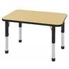 "24""x36"" Rectangular T-Mold Activity Table, Maple/Black/Chunky"