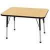 "24""x36"" Rectangular T-Mold Activity Table, Maple/Black/Standard Ball"
