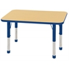 "24""x36"" Rectangular T-Mold Activity Table, Maple/Blue/Chunky"