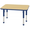 "ECR4Kids 24x36"" Rect Table Maple/Blue -Chunky"