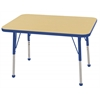 "24""x36"" Rectangular T-Mold Activity Table, Maple/Blue/Toddler Ball"