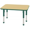 "ECR4Kids 24x36"" Rect Table Maple/Green-Chunky"