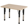 "24""x36"" Rectangular T-Mold Activity Table, Maple/Maple/Black/Chunky"