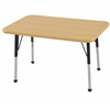 "ECR4Kids 24""x36"" Rect Maple/Maple/Black Standard BG"
