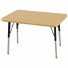"ECR4Kids 24""x36"" Rect Maple/Maple/Black Standard SG"