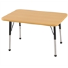 "24""x36"" Rectangular T-Mold Activity Table, Maple/Maple/Black/Toddler Ball"