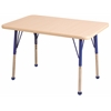 "24""x36"" Rectangular T-Mold Activity Table, Maple/Maple/Blue/Toddler Ball"