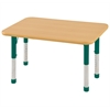 "24""x36"" Rectangular T-Mold Activity Table, Maple/Maple/Green/Chunky"