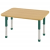 "ECR4Kids 24""x36"" Rect Maple/Maple/Green Chunky"