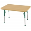 "ECR4Kids 24""x36"" Rect Maple/Maple/Green Toddler BG"