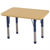 "ECR4Kids 24""x36"" Rect Maple/Maple/Navy Chunky"