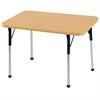 "24""x36"" Rectangular T-Mold Activity Table, Maple/Maple/Navy/Standard Ball"