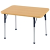 "24""x36"" Rectangular T-Mold Activity Table, Maple/Maple/Navy/Toddler Ball"