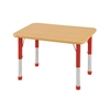 "ECR4Kids 24""x36"" Rect Maple/Maple/Red Chunky"