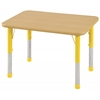 "24""x36"" Rectangular T-Mold Activity Table, Maple/Maple/Yellow/Chunky"