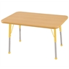 "24""x36"" Rectangular T-Mold Activity Table, Maple/Maple/Yellow/Toddler Ball"