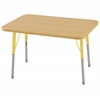 "ECR4Kids 24""x36"" Rect Maple/Maple/Yellow Toddler SG"