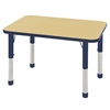 "ECR4Kids 24x36"" Rect Table Maple/Navy -Chunky"