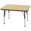 "ECR4Kids 24x36"" Rect Table Maple/Navy -Standard Ball"