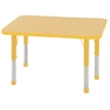 "24""x36"" Rectangular T-Mold Activity Table, Maple/Yellow/Chunky"