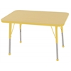 "ECR4Kids 24x36"" Rect Table Maple/Yellow-Standard Ball"