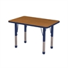 "24""x36"" Rectangular T-Mold Activity Table, Oak/Navy/Chunky"