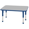 "24""x48"" Rectangular T-Mold Activity Table, Grey/Blue/Chunky"