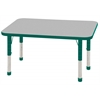 "24""x48"" Rectangular T-Mold Activity Table, Grey/Green/Chunky"